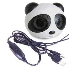 universal Cute Panda Shape usb Portable Mini Stereo Speaker for Desktop Laptop Notebook Cellphone High quality
