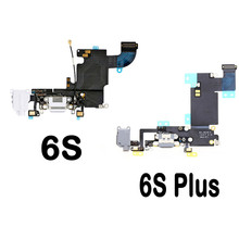 High Quality Charger Dock USB Charging Port Plug Flex Cable For Apple Iphone 6S 6S Plus With Headphone Jack Version Mic