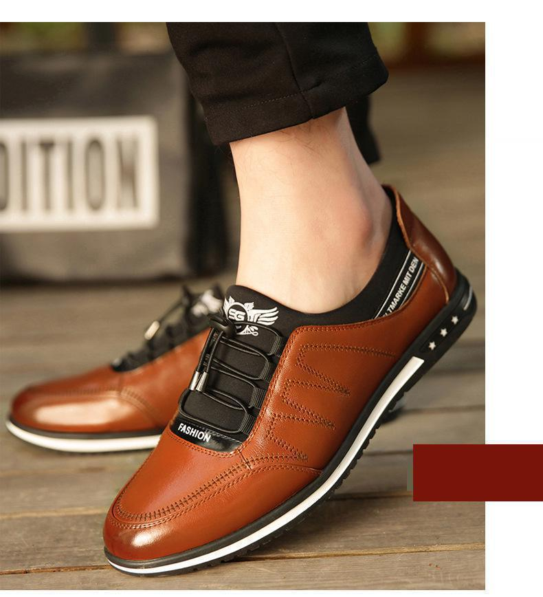 Men's Shoes Collection Here Full Grain Leather Oxfords Shoes Handmade Plus Size Flats Shoes Fashion Oxford Business Shoes Mesh Wedding Dress Shoes To Have Both The Quality Of Tenacity And Hardness
