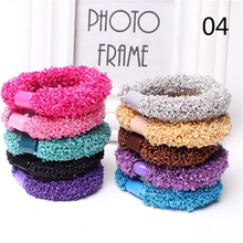 Candy Color 10 pcs Girls high elastic hair ties head band scrunchie hairbands rope ponytail bracelets headband accessories(China)