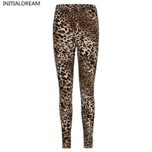 sexy Leggings Womens 2017 Leopard Leggings Print Skinny Pants High Elastic stretch pants female winter geometric jeans leggins(China)