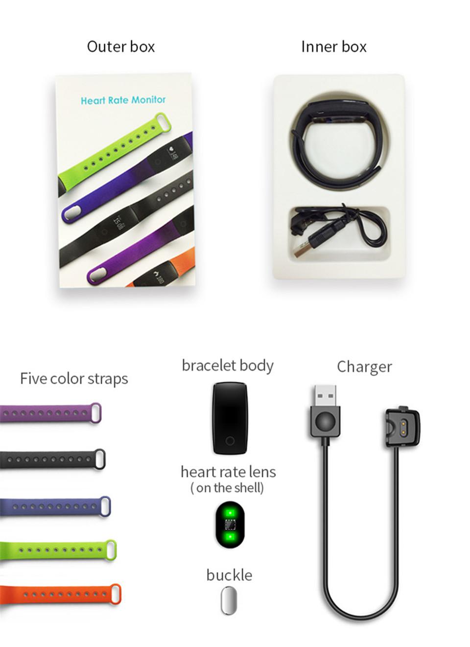 Teamyo New V05C Smart Band Pulse Heart Rate Monitor Smart Wristband Fitness Tracker Pedometer Sleep Tracker IOS Android Bracelet 16