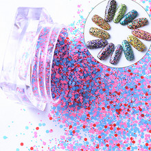 12 /lot Shining Nail Glitter Powder Nail Dust Powder 12 Colors Mermaid Manicure Nail Art Glitter