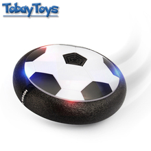 Funny Newest Toy Colorful LED Flashing Indoor Gliding Floating Football Levitate Ball Exercise Toy For Children's Birthday Gift(China)