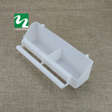 Bird drinking water Bird box double groove Parrot Dove Finch Water box The bird cage supplies with plastic accessories(China)