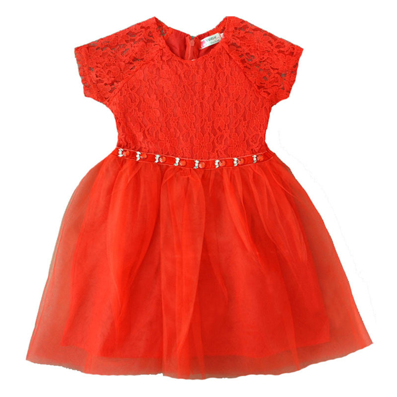 New Baby Girls Clothes Orange Red Princess Dress Children Bridesmaid Toddler Elegant Dress Pageant Formal Party Girls Dresses<br><br>Aliexpress