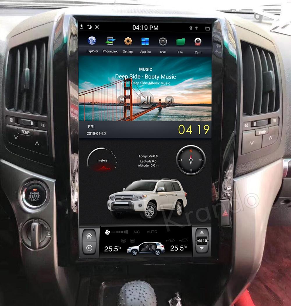 Krando android car radio stereo navigation gps for toyota land cruiser 200 2008-2015 car dvd player multimedia system (2)