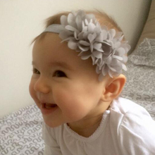 TWDVS Baby Chiffon 3 Flower Hair band Elastic hair Accessories Girls Ring Headband Kids Flower Hair Accessories W001