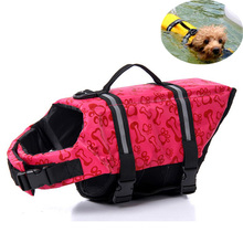 Pet Aquatic Reflective Preserver Float Vest Dog Cat Saver Life Jacket Safety Clothes For Surfing Swimming Vest Swimwear 6 Sizes(China)
