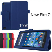 For New Amazon Kindle Fire HD 7 HD7 2015 Generation Tablet Case Litchi stand PU Leather Case Flip Cover +stylus(China)