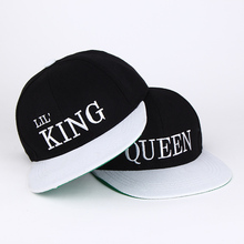 2017 new Kids king queen Snapback Cartoon Embroidery Children Cotton Baseball Cap Baby Boys Girl Snapback Caps Hip Hop Hats(China)