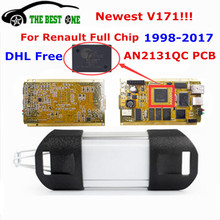 DHL Free Best For Renault Can Clip V171 Full Chip+Reprog V151 CYPRESS AN2131QC Gold PCB OBD2 OBDII Auto Diagnostic Tool To 2017