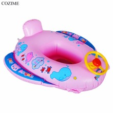 Hot COZIME Baby Inflatable Swimming Ring Children Kids Inflatable Summer Swimming Ring With Steering Wheel & Horn Special Design