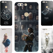 Fashion GOT Game Of Throne House Stark Hard Painting Case For Huawei Honor 8  FRD-L19  FRD-L14  FRD-L04 Cell Phone Printed Cover
