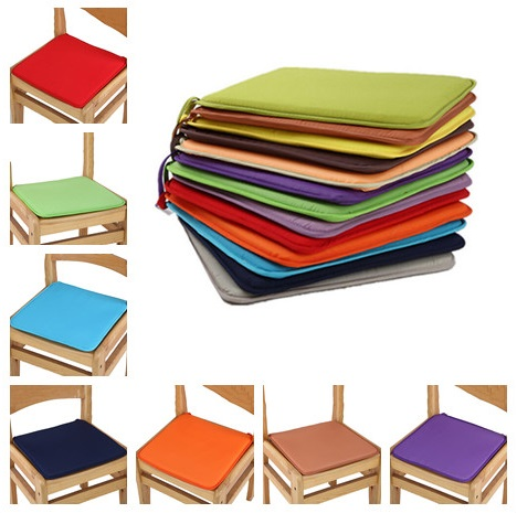 2019New Soft Comfort Seat Mat Solid Color 40cm*40cm Lumbar Pillow Office Chair Seat Cushion Bolster Buttocks Tie On Pad 7 Colors