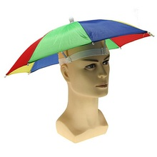 1 pcs Foldable Headwear Sun Umbrella Fishing Hiking Beach Camping Headwear Cap Head Hats Outdoor Sport Umbrella Hat Cap