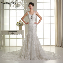 Buy Real Picture Lace Mermaid Wedding Dress 2017 Backless Sweetheart Beading Vestido De Novia Sexy Chapel Train Bridal Gown Dresses for $239.00 in AliExpress store
