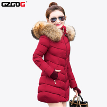 winter jacket women 2017 fashion slim long cotton-padded Hooded jacket parka female wadded jacket outerwear winter coat women
