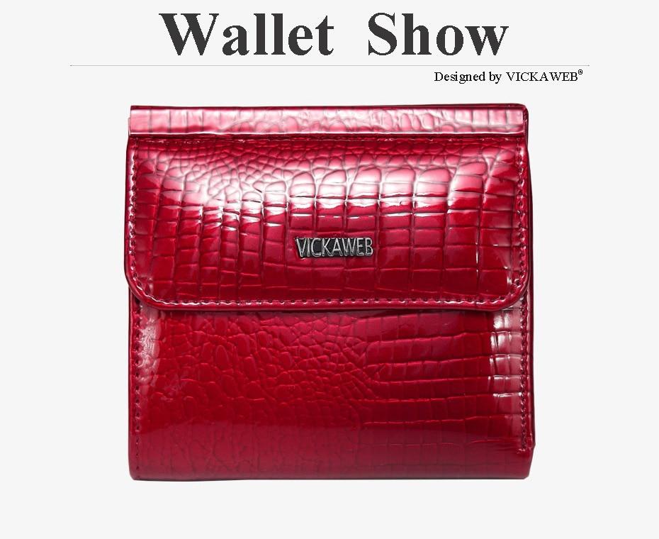 VICKAWEB Mini Wallet Women Genuine Leather Wallets Fashion Alligator Hasp Short Wallet Female Small Woman Wallets And Purses-AE209-013