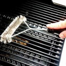 12inch Barbecue Grill BBQ Brush Stainless Steel Wire Bristles Cleaning Brushes With Handle Cooking Tool Supplies(China)