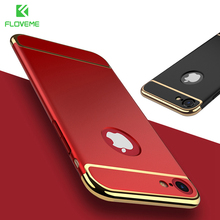 FLOVEME For iPhone 7 Plus iPhone 6 6S Armor Case Red Black Hard PC Phone Cases For iPhone 6 6S 7 Plus Luxury Shockproof Cover
