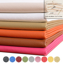 140cm Wide Solid Color PU Leather Home Car Interior Decoration Upholstery Leather Fabric Fleece Backing Order By Meter(China)