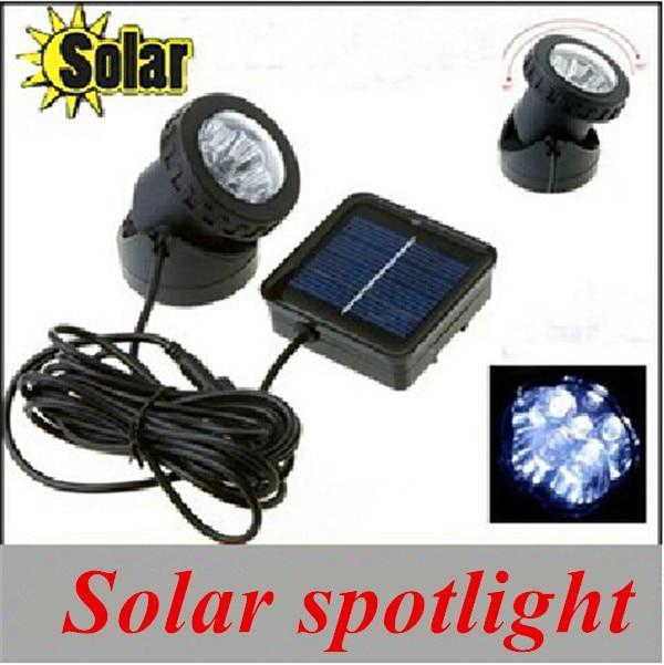 2015 new arrival solar power 6leds spotlight Aquarium light bulb garden light waterproof IP68 Wholesale and retail<br><br>Aliexpress
