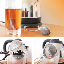 HOT Stainless Steel Spoon Tea Leaves Herb Mesh Ball Infuser Filter Squeeze Strainer 91ME(China)
