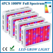 4PCS 1000W LED Grow Light Double Chips 380-730nm Full Spectrum LED Plant Grow Light For Indoor Plants Flowering And Growing