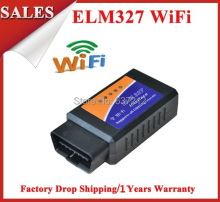 OBD/OBDII Scanner WIFI ELM327 OBDII Code Reader WIFI elm 327 for iPhone iPad iPod(China)