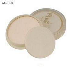 GUJHUI New Natural Color Pressed Smooth Dry Concealer Oil Control Loose Face Powder Beauty Makeup Face Care Cosmetic