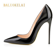 Buy Shoes Woman High Heel Pumps Sexy Black High Heels Pointed Toe Women Shoes Brand Patent Leather Wedding Shoes Women FS-0019 for $66.60 in AliExpress store