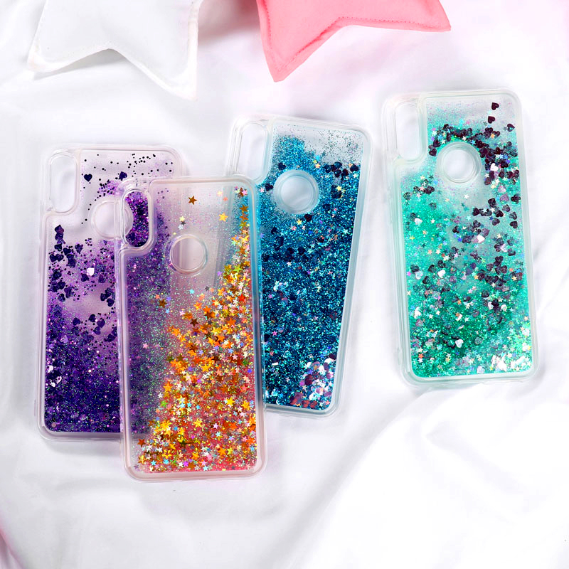 Bling Silicone Case For Huawei Honor 8A Case Cover For Huawei Honor Note 10 Nova 3i 4 P30 8X Glitter Liquid Dynamic TPU Cover