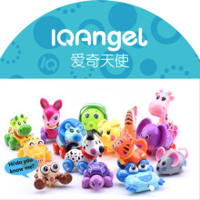 IQANGLE Wind Up Toy Funny Baby Zoo Baby Cartton 18 Animal Cow Cat Dog Sika Design Running Clockwork Spring Toy Newborn Baby Toy