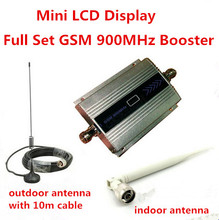 GSM 900Mhz Booster Repeater Mobile Phone Signal Amplifier Cell Signal gsm booster 900 mhz  10 m Cable+Antenna repeater Factory