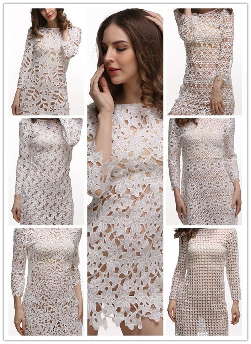 17 Beach Crochet Cover Up for Women Floral Hollow Lace Bikini Cover-Ups Swimwear Women Beach Dress Bathing Suit Cover Ups 4