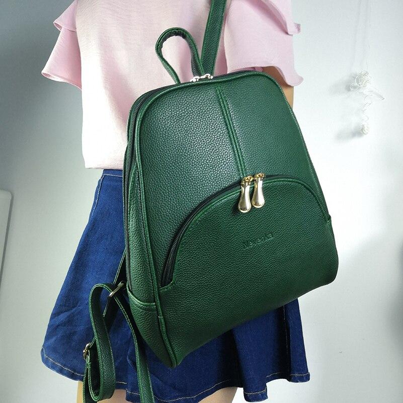 Nevenka Women Backpack Leather Backpacks Softback Bags Brand Name Bag Preppy Style Bag Casual Backpacks Teenagers Backpack Sac05
