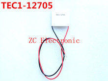 Free shipping! 5pcs/lot TEC1-12705 Thermoelectric Cooler Peltier 12705 12V 5A Cells, TEC12705 Peltier Elemente Module