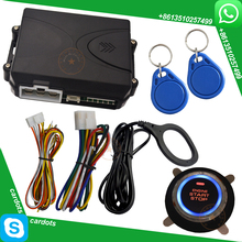 rfid invisible car alarm system with red running light start button remote start stop engine by alarm remote