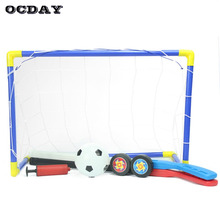 OCDAY Toys For Children 2-in-1 Mini Football Soccer Hockey Goal Post Net Set Funny Indoor Outdoor Games Sports Toys Kids Gift