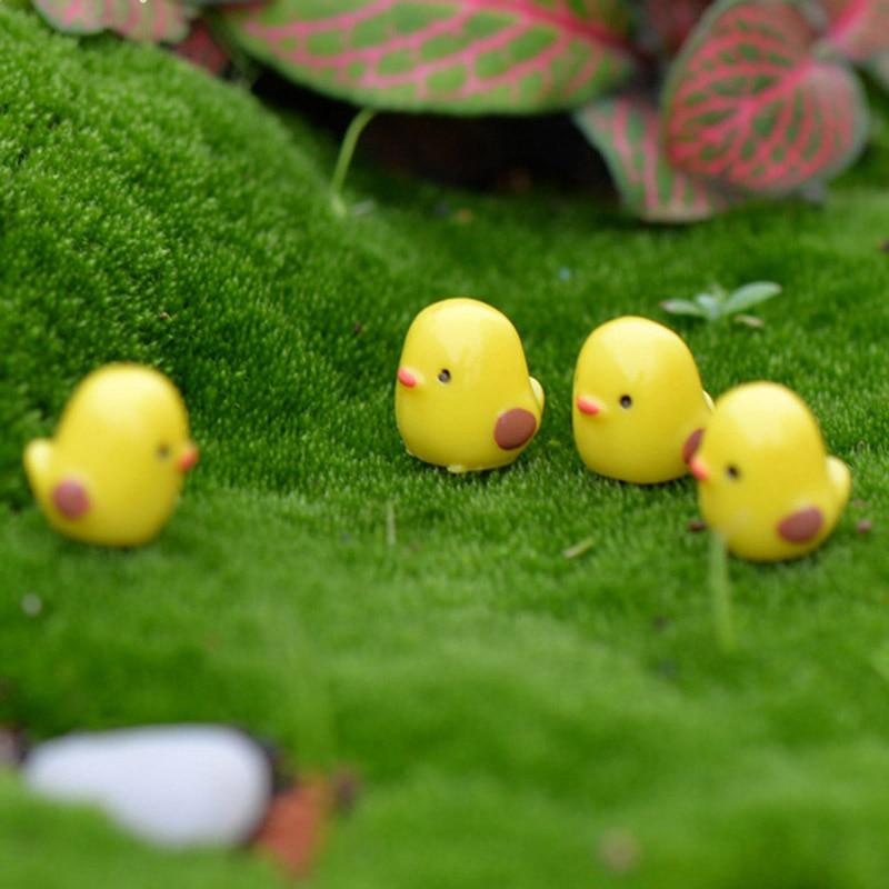 10Pcs Easter Party Mini Chicken Ornaments Resin Fairy Miniature Garden SceneSE