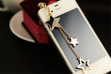 Universal 3.5mm Phone Strap Dustproof Dust Plug Stars Decoration Headphones Gadget Stub For iPhone 6s 7 For Samsung Push-Button(China)