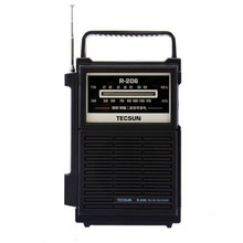 TECSUN R-206 Full Brand AM/FM/MW/SW1-6 Multy-band Clock Radio Receiver Digital Demodulation Stereo Radio Portable Pocket Size