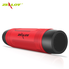 Zealot S1 Wireless Bluetooth speaker Portable Outdoor Cycle Subwoofer 4000mAh Power Bank LED Torchlight Support Radio/TF card