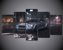 5 Piece HD Printed Wall Art Picture Art Ford Mustang Car Painting Canvas Art Poster Prints Wall Decor For Living Room Artwork