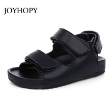 JOYHOPY Baby Toddler Sandals Genuine Leather Little Boys Girls Sandals Kids Sandals High Quality Children Summer Shoes