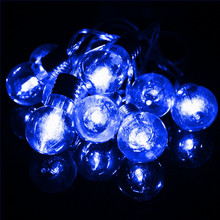 1.5M Multicolor LED Outdoor Light Globe Balls Bulb Fairy Lamp 10 LED String Light Battery Power Christmas Wedding Party Home