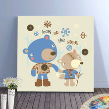 lovely bears digital paint by numbers friend bears diy oil paintings diy digital painting drawing practice for kids