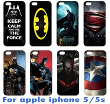 AKABEILA superman Super Hero Batman Captain America Hard Case For Iphone55g Iphone5s Iphone5g Cover 1pcs Bags Skin(China)