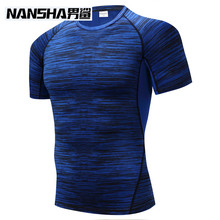 Buy NANSHA Mens Fitness 3D Prints Short Sleeves T Shirt Men Bodybuilding Skin Tight Thermal Compression Shirts Crossfit Workout Top for $8.99 in AliExpress store